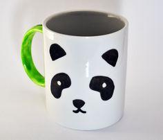 DIY Panda Mug  Personalized Mug  Black and White  by WonderlandShop, $16.00