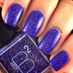 Gorgeous blue polish, from @bsquaredlacquer. (photo by @glittr on IG)