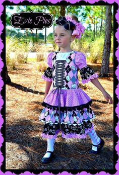 Whitney's Triple Ruffle Dress You are on my to do list Ms. Whitney Dress!  Love it layered over the Alyssa's Peasant Top Fairytale Pattern Designs