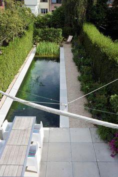 Bart & Pieter   Tuinarchitectuur - tuin met zwemvijver