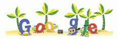 "Pin for Later: The Cutest World Cup Google Doodles You Might Have Missed Brazilian Way of Life ""Enjoy your Sunday with some Samba and an agua de coco!"" Source: Google"