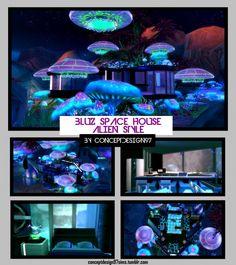 BLUZ SPACE Alien House at ConceptDesign97 via Sims 4 Updates