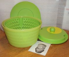 Tupperware Spin N Save Salad Spinner 4 Qt Lettuce Bowl GREEN >>> Awesome deals : Mixing bowls baking