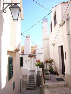 Little alleyway in the centre of Baska, island of Krk, Croatia