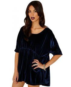 Missguided Leary Velvet Trapeze Dress