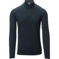 The Kuhl Men's Skar 1/4-Zip Sweater is a versatile adventure piece for skiing, climbing, hiking, and keeping comfy around the campfire. Made of merino wool, the Skar regulates your body temperature, naturally resists odor,  and has a soft feel. Kuhl's 3-D articulation  ensures a freedom of movement when you're playing hard, and the stealth  thumbholes are there when you need them but not obvious when you're going a bit more casual.