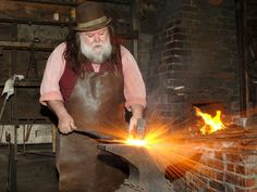 A blacksmith hard at work in Old Cowtown, a unique meeting space option. Let your attendees experience Wichita like it's 1865!