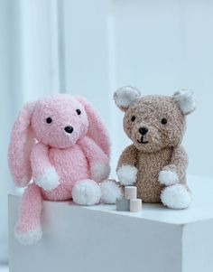 Sirdar 2521 Teddy Bear and Bunny Toy in Sirdar Snuggly Bunny yarn/#4 weight Bear Toy, Teddy Bear, Novelty Toys, Bunny Toys, Simple Shapes, Dog Coats, Cute Bunny, Knit Or Crochet, Doll Clothes