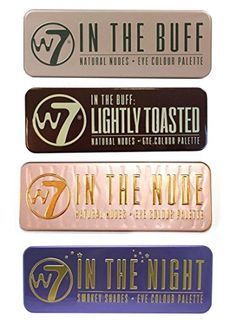 W7's Ultimate Eyeshadow Collection with Natural Nudes and Smokey Shades -  Four Gorgeous, 12-in-1 palette sets: In The Buff + In The Nude + In The Night + Lightly Toasted W7 http://www.amazon.com/dp/B00P2KDUOG/ref=cm_sw_r_pi_dp_BYenwb1NJXXPD