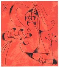 """Joan Miro original lithograph """"Composition 6"""""""