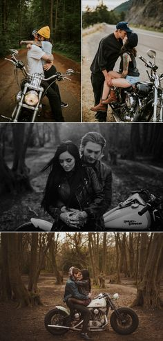 37 Adventurous Engagement Photos That Will Take Your Breath Away! 37 Adventurous Engagement Photos That Will Take Your Breath Away! Photos Couple Moto, Motorcycle Couple Pictures, Photo Couple, Couple Shoot, Biker Couple, Couple Ideas, Motorcycle Engagement Photos, Engagement Couple, Engagement Pictures