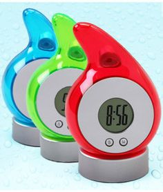 Koshi Energy Saving Water-Powered Clock ($40 Value) Available in 4 colors ONLY $12