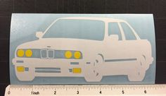 BMW e30 Vinyl Decal Sticker 3 series 318is 325is Yellow headlights Fogs by ZsquareDesigns on Etsy https://www.etsy.com/listing/268812142/bmw-e30-vinyl-decal-sticker-3-series