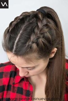 Unique Braided Long Hairstyles for Ladies – Latest Hairstyles Braided hairstyles are the oldest tradition for women. There are many different braiding styles, especially for long hair. Sometimes we get tired of our super-long. Half Updo Hairstyles, Sporty Hairstyles, Girl Hairstyles, Hairstyles 2018, Hairstyle Ideas, Cute Volleyball Hairstyles, Easy Summer Hairstyles, Hairstyles Pictures, Latest Hairstyles