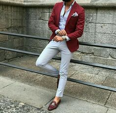 Quality Burgundy Mens Suits with Pants Groom Wedding Tuxedos Groomsmen Blazers Jacket Slim Fit Terno Masculino Costume Homme with free worldwide shipping on AliExpress Mobile Blazer Outfits Men, Mens Fashion Blazer, Suit Fashion, Red Blazer Outfit, Burgundy Blazer, Men Blazer, Burgundy Fashion, Slim Fit Tuxedo, Tuxedo For Men