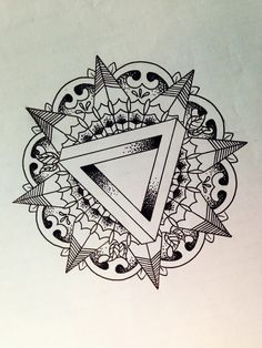 Penrose Mandala Tattoo - Almost a year ago since I drew it. Mandala Tattoo Design, Dotwork Tattoo Mandala, Tattoo Designs, Ganesha Tattoo, Lotus Tattoo, Tattoo Ink, Buddha Tattoos, Hindu Tattoos, Symbol Tattoos
