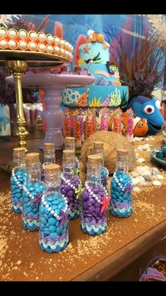 DIY Mermaid Birthday Party for Kids - Unicorn Dreaming Diy Mermaid Birthday Party, Little Mermaid Birthday, Little Mermaid Parties, 6th Birthday Parties, Ariel Party, 3rd Birthday, Mermaid Party Favors, Birthday Desserts, Birthday Favors