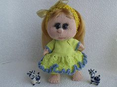 Collectible doll  Knitted doll Soft toy Handmade doll Original