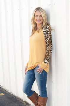 Leopard Print Raglan Sleeve Tops | Jane