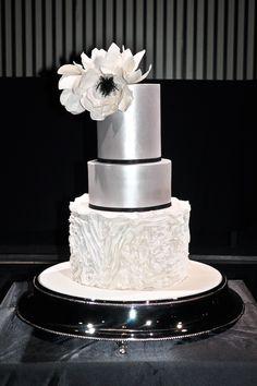 Belinda: Baked by Belinda |silver black white wedding cake