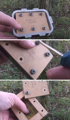 A neat little #geocaching field puzzle. Bring a screwdriver! (vid by geocachespoilers, screen caps stitched together by @ibgeocaching) #IBGCp