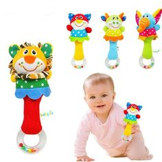 Promo Offer Animal hand bar bell and baby teethers rattles baby plush toy and hand bell baby toys WJ093