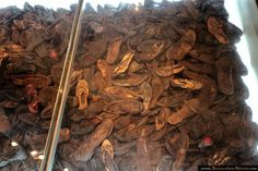 The shoes collected from Jews at Yad Vashem