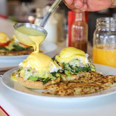 Best Breakfast in Santa Rosa: 22 Favorite Restaurants and Cafes - Sonoma Magazine Homestyle Potatoes, Croissant Donut, Corned Beef Hash, Chicken Fried Steak, Biscuits And Gravy, Breakfast Potatoes, Crab Cakes, Best Breakfast, Salmon Burgers