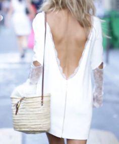 Rime Arodaky. Robe de mariée courte, pour un mariage civil.