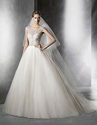 Pronovias > PRISMAL - Vestido de noiva, estilo princesa, com decote em barco