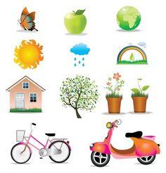 Окружающей среды Икона Set