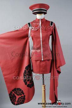 Vocaloid Meiko Senbon Sakuras Cosplay Costume Dress Uniform-1