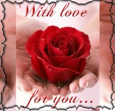 ✿⊱❥ With love for you. Love Heart Images, Love You Images, Beautiful Love Pictures, Romantic Pictures, Hearts And Roses, Red Roses, Happy Mothers Day, Happy Valentines Day, Jesus E Maria