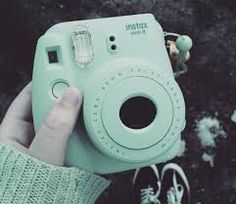 Image result for polaroid camera green mint
