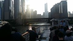 Beautiful Downtown Chicago view from the boat.