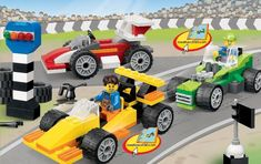 Bricks and More - Fun with Vehicles [Lego 4635] yellow racecar