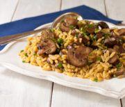 Κριθαρότο με μανιτάρια Fried Rice, Fries, Beef, Chicken, Ethnic Recipes, Food, Meat, Essen, Meals