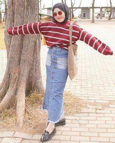 Hootd Stylish Hijab, Casual Hijab Outfit, Ootd Hijab, 90s Outfit, Hijab Chic, Casual Outfits, Abaya Fashion, Muslim Fashion, 90s Fashion