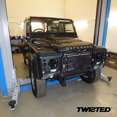 This 90 arrived here at Twisted Aintree Green, keep track of our posts this week where we'll be documenting its transformation… #Defender #LandRover #LandRoverDefender #Style #Lifestyle #AntiOrdinary #DefenderRedefined #Redefined #Handcrafted #Handmade #AintreeGreen #4x4 #Details #Yorkshire
