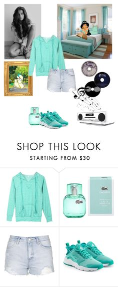 """""""Round 4: Homework/chilling at friends house"""" by kimmmeo ❤ liked on Polyvore featuring Disney, Lacoste, Topshop, NIKE, Ødd. and Ruark Audio"""