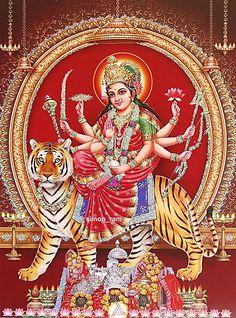 Goddess Durga (via Dolls of India) Shiva Art, Shiva Shakti, Hindu Art, Krishna Art, Kali Goddess, Indian Goddess, Mother Goddess, Saraswati Goddess, Navratri Puja