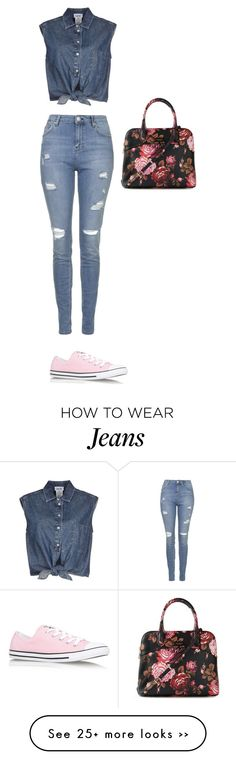 """""""cool jeans"""" by uvadi on Polyvore featuring Topshop, Jean-Paul Gaultier, Converse and Isaac Mizrahi"""