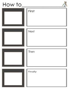 Procedural writing template - easy to follow!  Great for grade one! Sold in a bundle of 6 traits of writing templates for K-3!