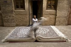 They say that a carpet is like a book: it makes us travel to places we 've never been... A creative photo from the Iranian photographer Jalal Sepehr