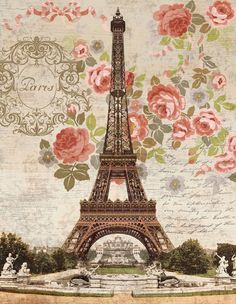 Fond - Paper - Printable - Paris Dreaming of Paris by Suzanne Nicoll