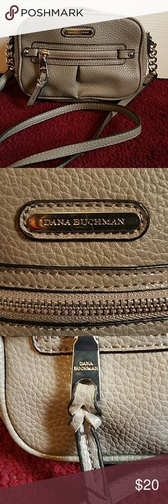 GRAY👜Dana Buchman cross body purse FIRST PHOTO IS FOR DISPLAY,  NOT THE  COLOR I'M SELLING! Adorable, and like new. used maybe twice Dana Buchman Bags