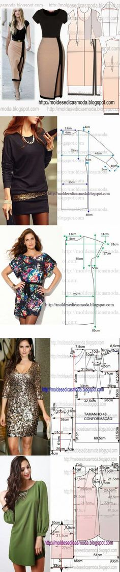 Ideas for fashion diy clothes dress patterns simple Sewing Dress, Diy Dress, Sewing Clothes, Sewing Coat, Barbie Clothes, Diy Clothing, Clothing Patterns, Dress Patterns, Sewing Patterns