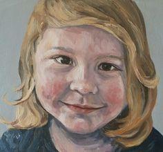 Bonnie,  Oil and Canvas