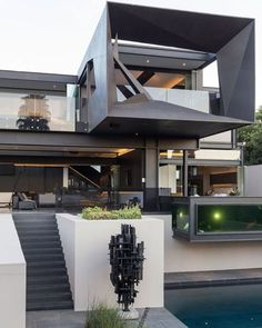 A Contemporary Residence In South Africa By Nico Van Der Meulen Architects - IGNANT - Kloof Road House www. Kloof Road House www. Kloof Road House www. Architecture Design, Residential Architecture, Contemporary Architecture, Amazing Architecture, Futuristic Architecture, Contemporary Houses, Futuristic Design, Modern Architecture Homes, Futuristic Houses
