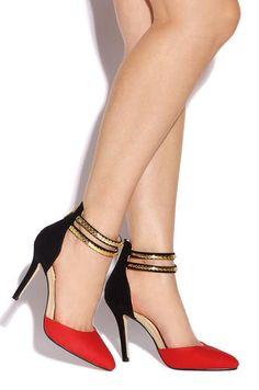 Designer Delight - Red - Lola Shoetique